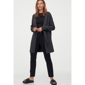H&M Grey Long Cardigan